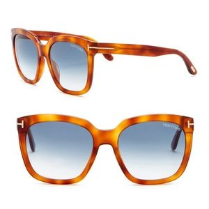 NEW Tom Ford Amarra 55mm Square Sunglasses